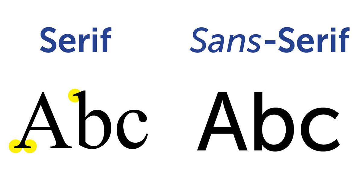 ประเภทฟอนต์ serif และ sans-serif แตกต่างกันอย่างไร
